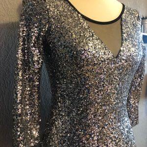 Silver Mini Dress 🪐